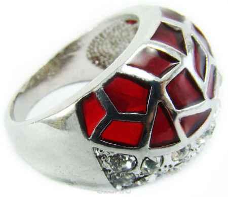 Купить Кольцо Taya, цвет: красный, серебряный. T-B-8689