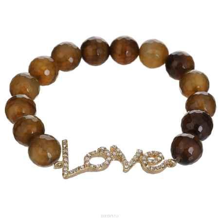 Купить Браслет Taya, цвет: золотистый, коричневый. T-B-5885