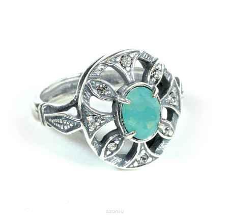 Купить Кольцо Jenavi Коллекция Леди Луара, цвет: серебряный, белый. a4903003. Размер 19