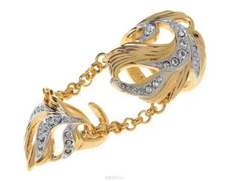 Купить Кольцо Jenavi Коллекция Binario Гуадалете, цвет: золотой, белый. r766q000. Размер б/р