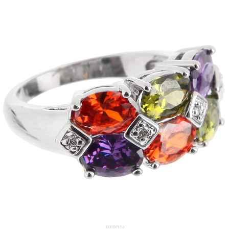 Купить Кольцо Taya, цвет: серебристый, мультиколор. T-B-4775