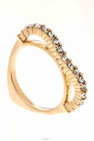 Купить Кольцо Jenavi Коллекция Teona Меави, цвет: золотой, белый. f420p000. Размер 20