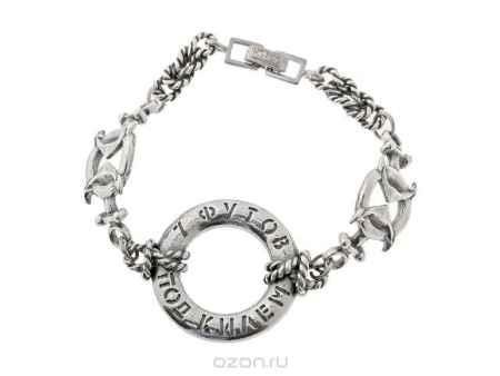 Купить Браслет Jenavi Коллекция Морской круиз Такелаж, цвет: серебряный. h6513490. Размер 16