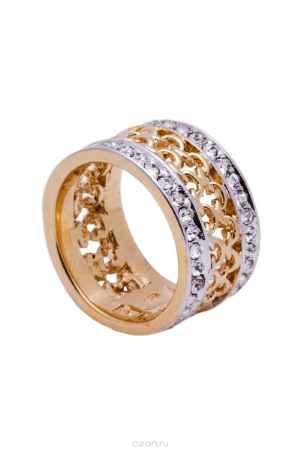 Купить Кольцо Jenavi Коллекция Relax Макатава, цвет: золотой, белый. r966q000. Размер 19