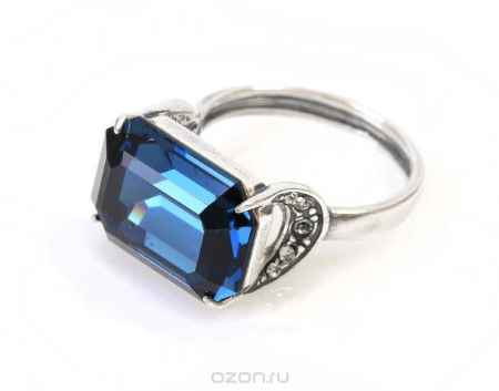 Купить Кольцо Jenavi Коллекция Погода Шквал, цвет: серебряный, синий. e5143044. Размер 19