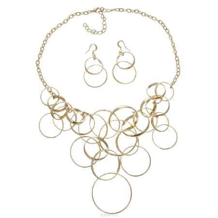 Купить Набор бижутерии Taya: колье, серьги, цвет: золотистый. T-B-5767-SET-GOLD
