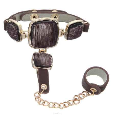 Купить Браслет с кольцом Taya, цвет: коричневый. T-B-7948-BRAC-BROWN