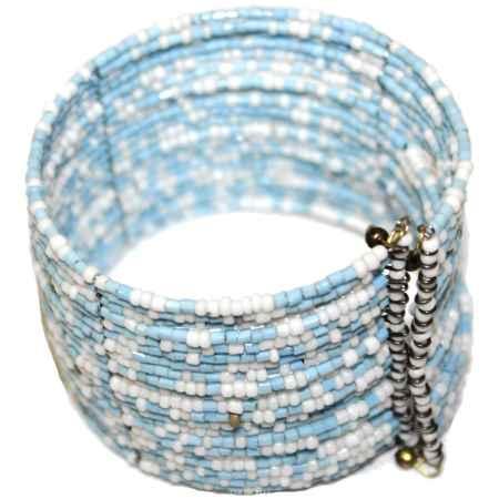Купить Браслет Ethnica, цвет: белый, голубой, серебряный. 239080