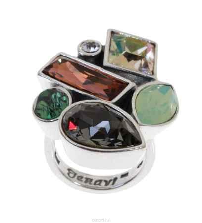 Купить Кольцо Jenavi Коллекция Виктуар SW Элюар, цвет: серебряный, коричневый. r5973025. Размер 21