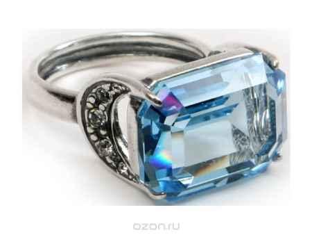 Купить Кольцо Jenavi Коллекция Погода Шквал, цвет: серебряный, голубой. e5143040. Размер 19