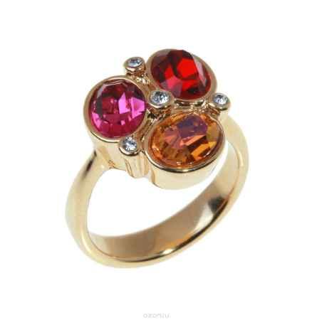 Купить Кольцо Jenavi Коллекция Дефиле Коллаж, цвет: золотой, красный. b965p015. Размер 19