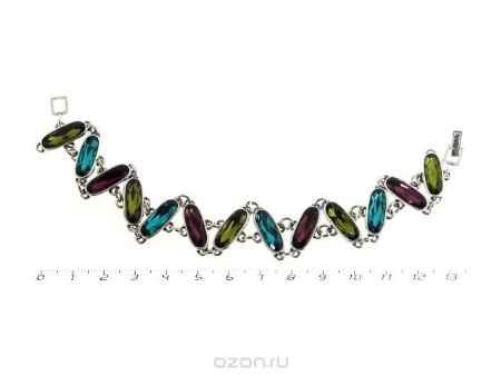 Купить Браслет Jenavi Коллекция Marmelatta Корен, цвет: серебряный, мультиколор. j0453470. Размер 18