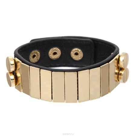 Купить Браслет Taya, цвет: золотистый, черный. T-B-7908-BRAC-GL.BLACK