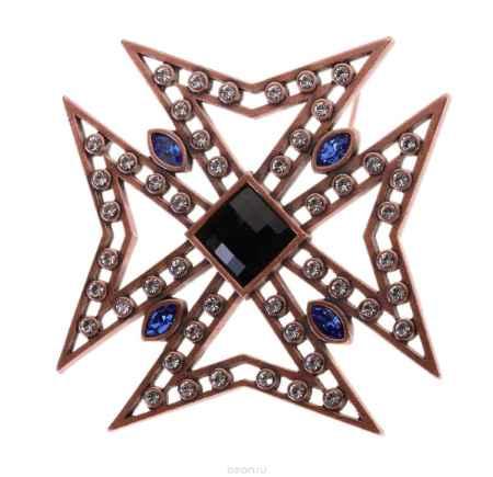 Купить Брошь Jenavi Коллекция Орден Сердца Орден Креста, цвет: медный, мультиколор. j614u670. Размер 5,55,5