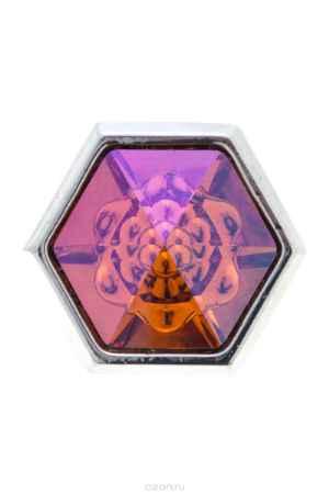 Купить Накладка на кольцо-основу Jenavi Коллекция Ротор Скрауб, цвет: серебряный, оранжевый. k190fr11. Размер 2,5/2