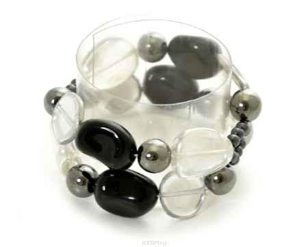 Купить Браслет Bohemia Style, цвет: черный, прозрачный, гематитовый. 165 5390 00