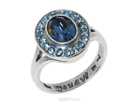 Купить Кольцо Jenavi Коллекция Murano Навогеро, цвет: серебряный, синий. r4683044. Размер 19