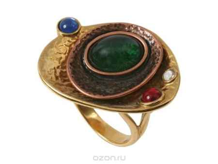 Купить Кольцо Jenavi Коллекция Тайны вселенной Дубхе, цвет: золотой, мультиколор. b052r070. Размер 19