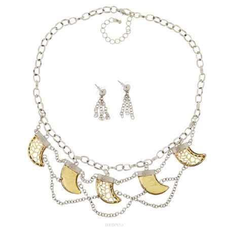 Купить Комплект Avgad: колье, серьги, цвет: золотистый, серебристый. H-477S858