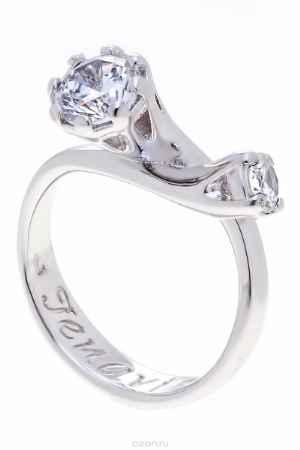 Купить Кольцо Jenavi Коллекция Teona Агри, цвет: серебряный, белый. f416f0a0. Размер 19