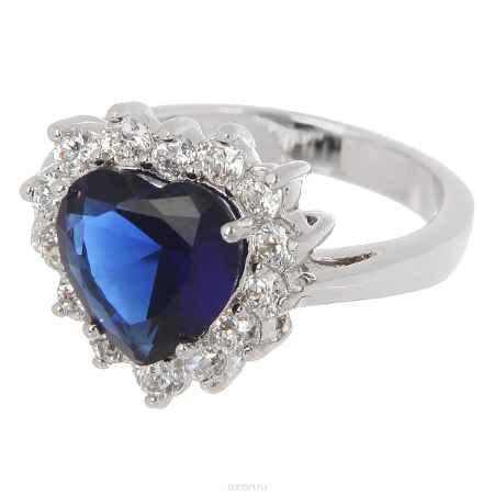 Купить Кольцо Taya, цвет: серебристый, сапфировый. T-B-4766