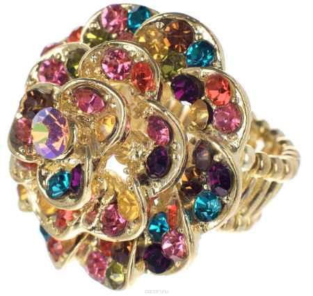 Купить Кольцо Taya, цвет: золотистый, мультиколор. T-B-7318