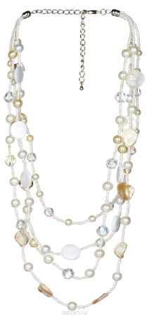Купить Комплект бижутерии (колье, серьги) Avgad, цвет: белый. H-477S839