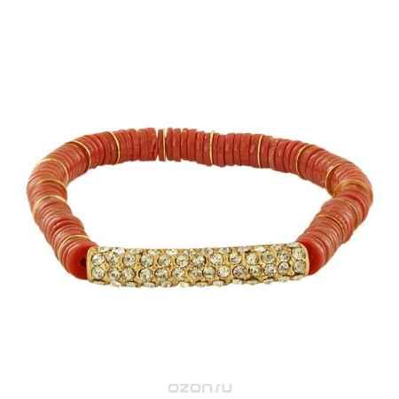 Купить Браслет Taya, цвет: золотистый, коралловый. T-B-5934