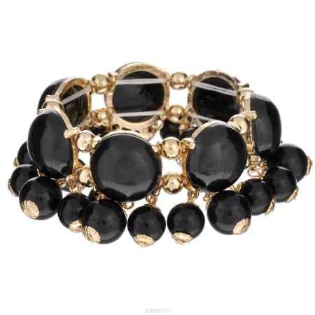 Купить Браслет Taya, цвет: золотистый, черный. T-B-6240