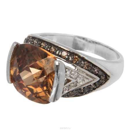 Купить Кольцо Taya, цвет: серебристый, коричневый. T-B-3945