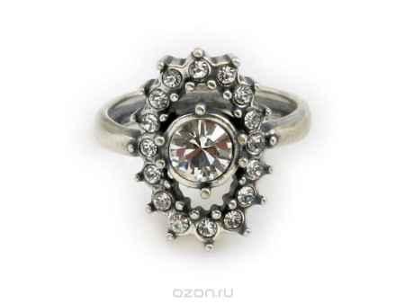 Купить Кольцо Jenavi Коллекция Погода Снегопад, цвет: серебряный, белый. e5053000. Размер 18