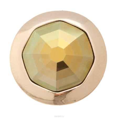 Купить Накладка на кольцо-основу Jenavi Коллекция Ротор Штраубе, цвет: золотой, зеленый. k191pr31. Размер 22