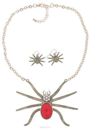 Купить Комплект украшений Avgad: колье, серьги, цвет: золотистый. H-477S969